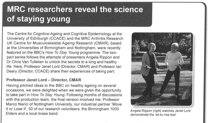 Article featured in MRC Life Publication