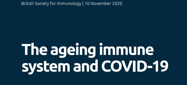 'The ageing immune system and COVID-19' now published on the British Society for Immunology's website